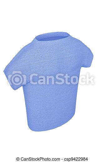 T-shirt blue 3d render textured cotton - csp9422984