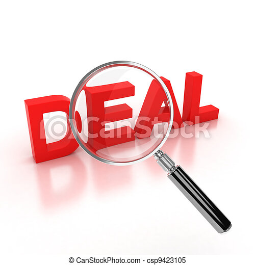 finding a good deal icon - csp9423105