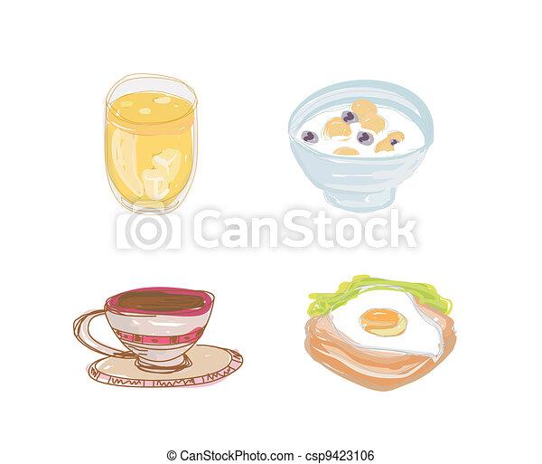 healthy breakfast set - csp9423106