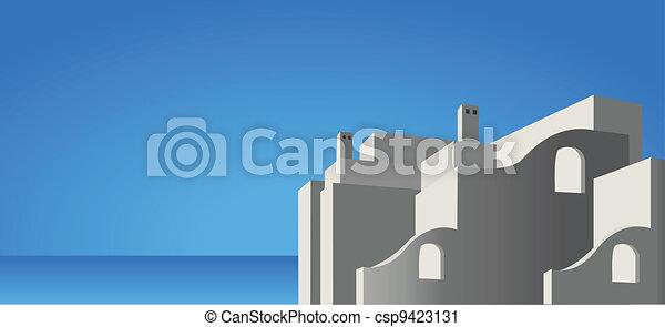 Mediterranean Architecture - csp9423131