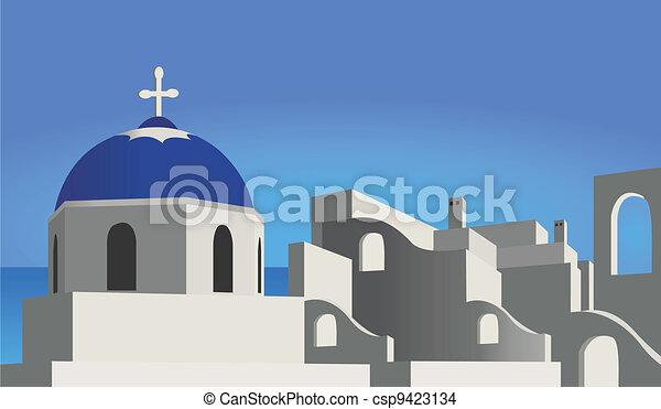 Mediterranean Architecture - csp9423134