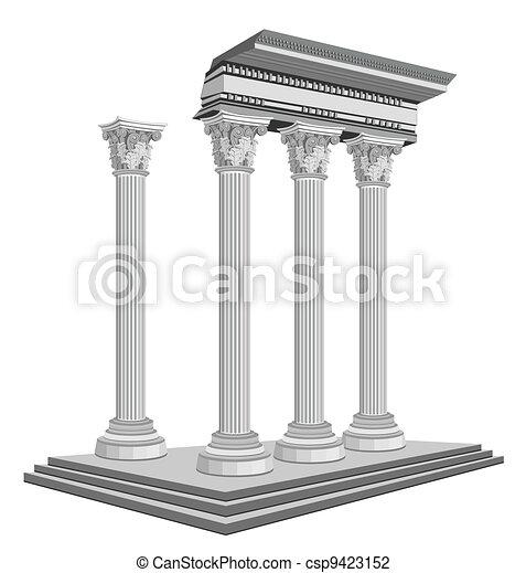Antique Temple Ruins - csp9423152
