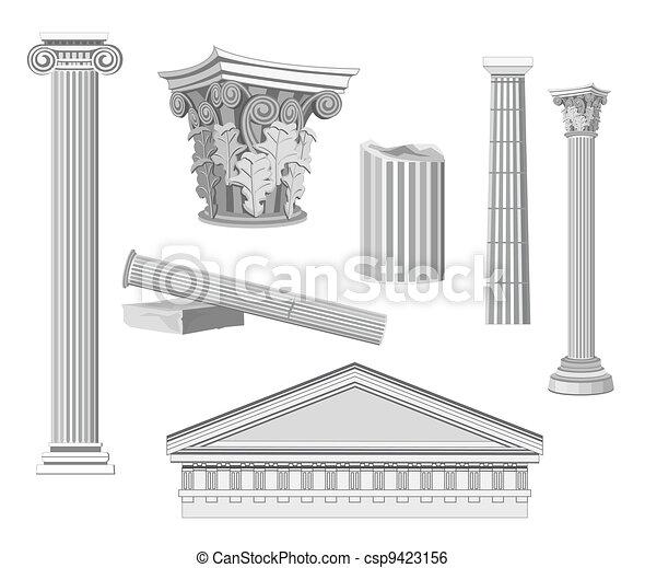 Antique Architectural Elements - csp9423156