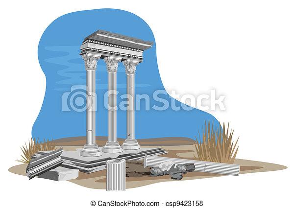 Antique Temple Ruins - csp9423158