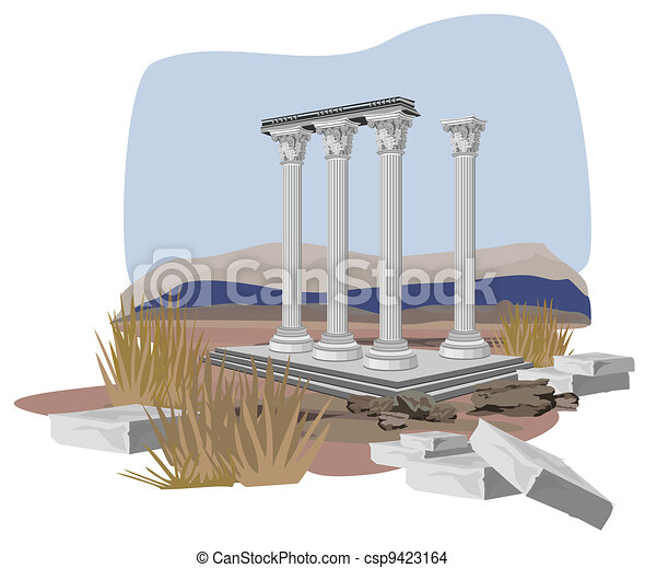 Antique Temple Ruins - csp9423164