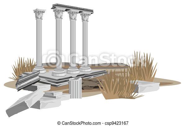 Antique Temple Ruins - csp9423167