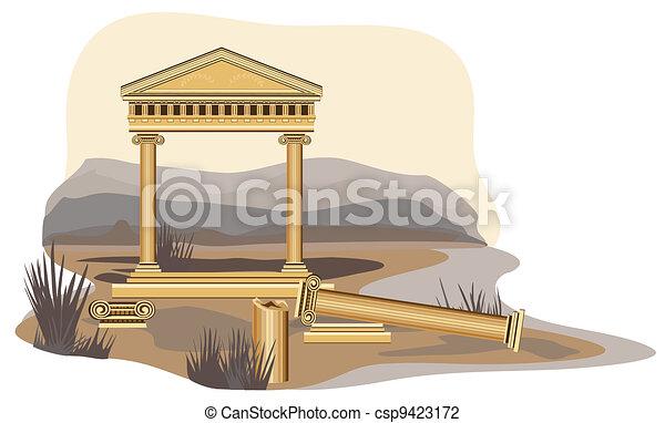 Antique Temple Ruins - csp9423172