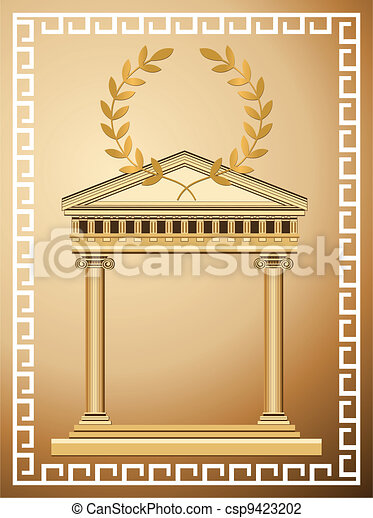 Antique Greek Background - csp9423202