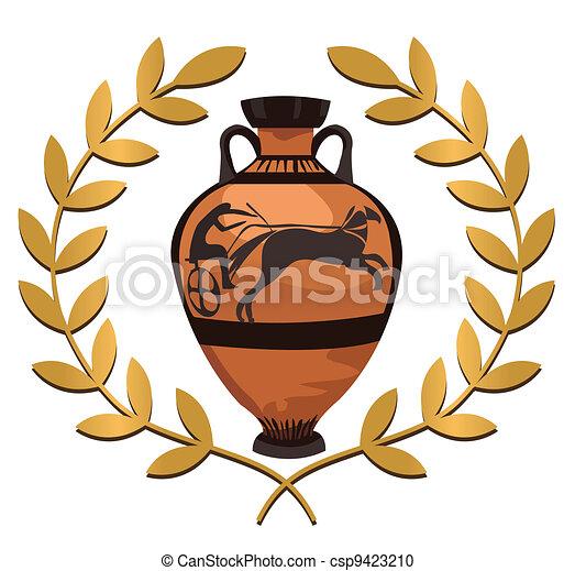 Antique Greek Vase - csp9423210