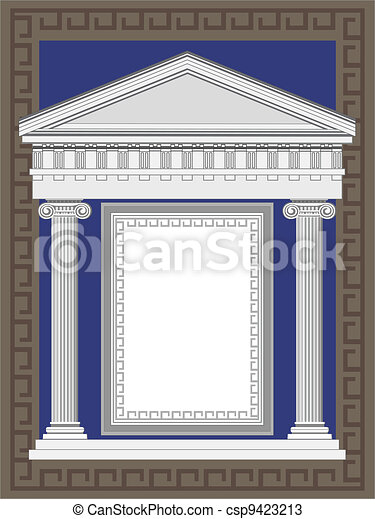 Antique Greek Temple - csp9423213