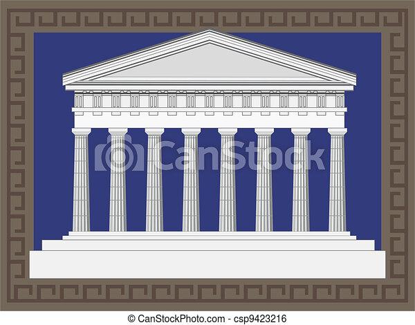 Antique Greek Temple - csp9423216