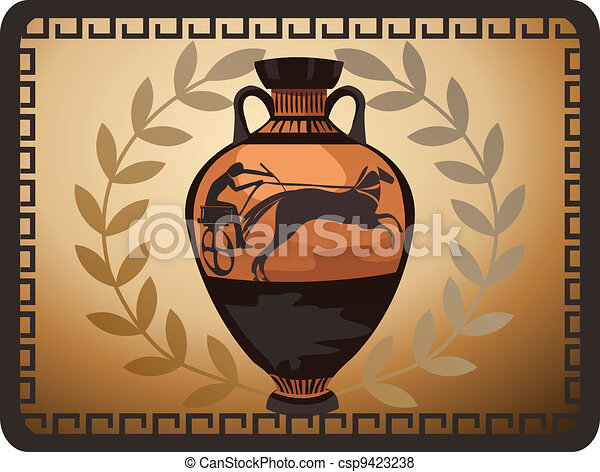 Antique Greek Vase - csp9423238