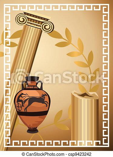 Antique Greek Symbols - csp9423242