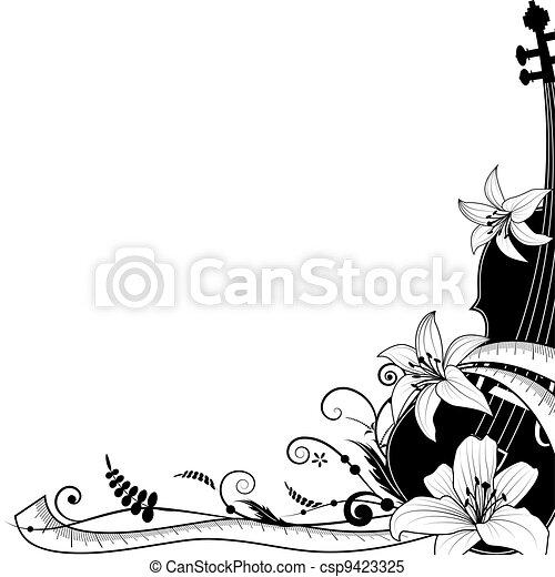 violin with sartorial meter, allegory - csp9423325