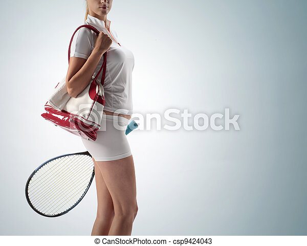 photos de raquette femme tennis jeune sports sac. Black Bedroom Furniture Sets. Home Design Ideas