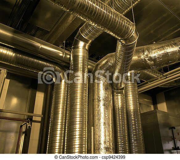 Ventilation pipes of industrial air condition - csp9424399