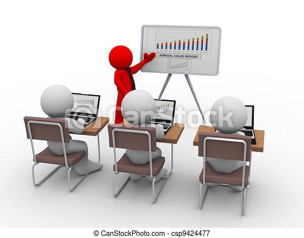 Stock de ilustraciones de conferencia empresa / negocio