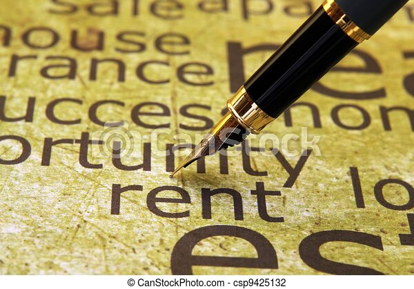 Rent word cloud - csp9425132