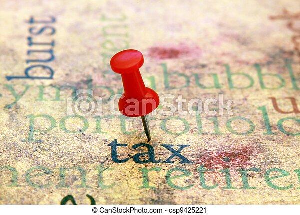 Tax concept - csp9425221
