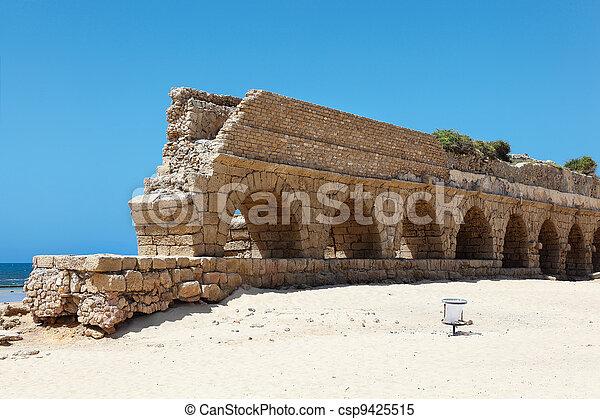 Aqueduct of Caesarea - csp9425515