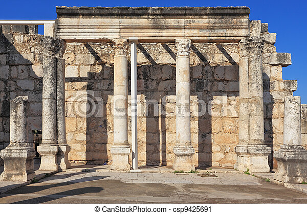 A colonnade in the Roman style  - csp9425691