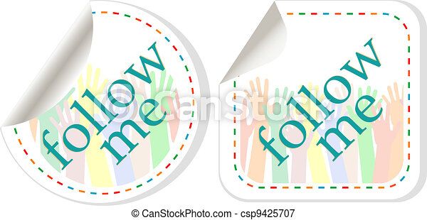 follow me stickers label set - csp9425707