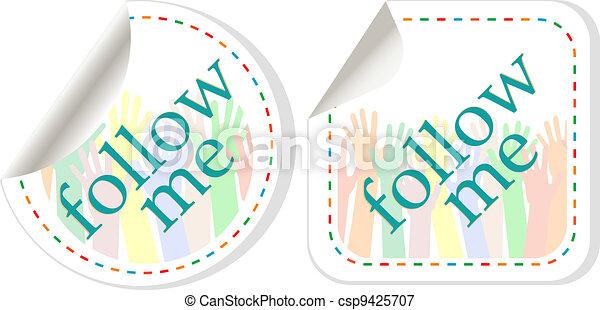 follow me stickers label set - csp9425707