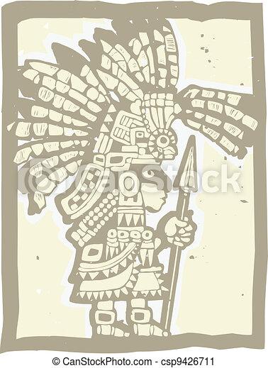 Teotihuacan Warrior  - csp9426711