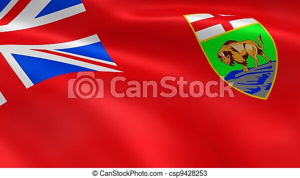 Manitoban Government flag in the wind - csp9428253