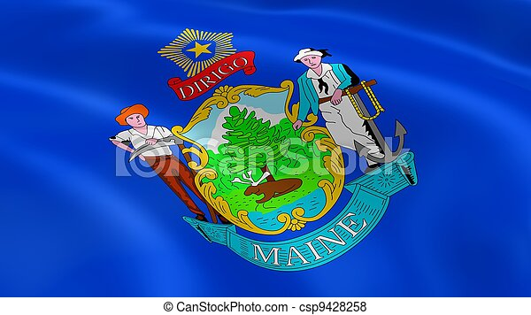 Mainer flag in the wind - csp9428258