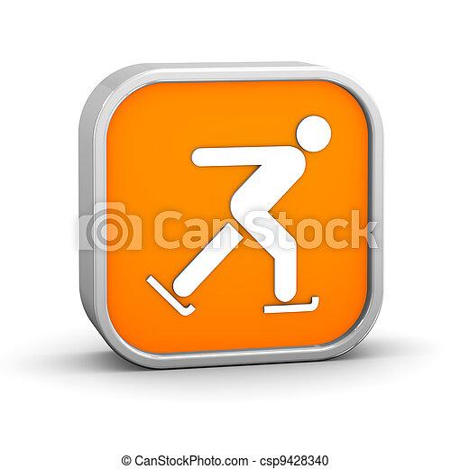 Ice skating sign - csp9428340