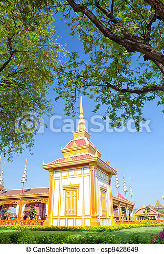 Thai royal funeral and Temple - csp9428649
