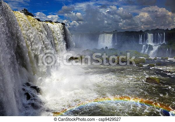Iguassu Falls, view from Brazilian side - csp9429527