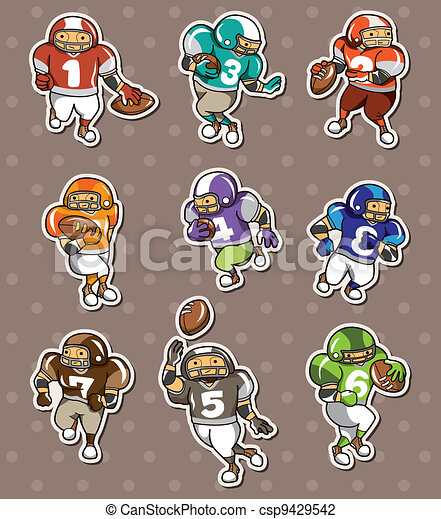 football player stickers - csp9429542