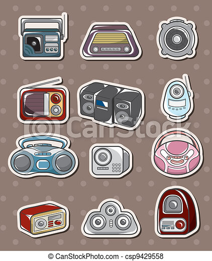radio stickers - csp9429558