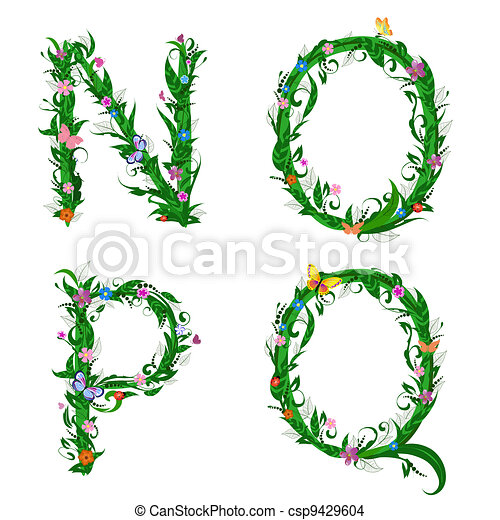 font foliage insect - csp9429604
