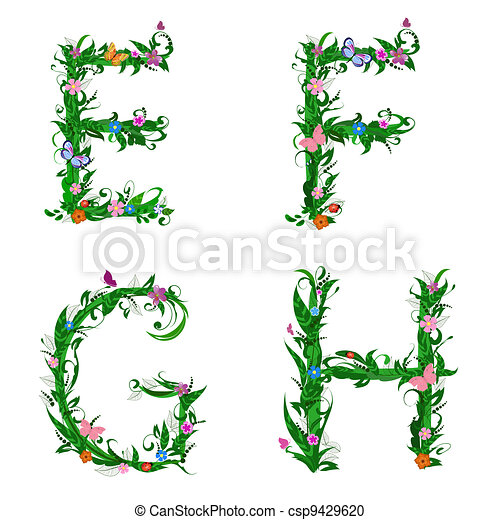 font foliage insect - csp9429620