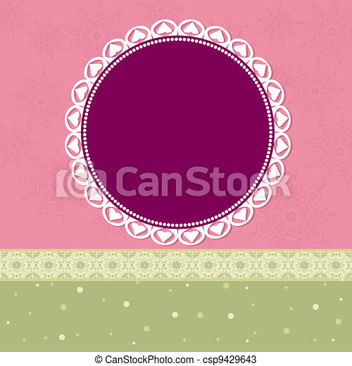 nice design frame with arabesques - csp9429643