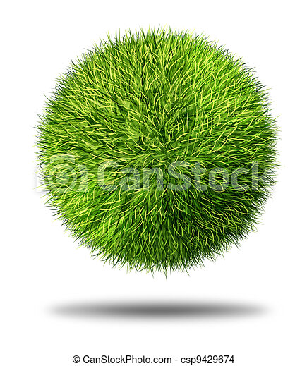 Environmental Conservation Grass Ball - csp9429674