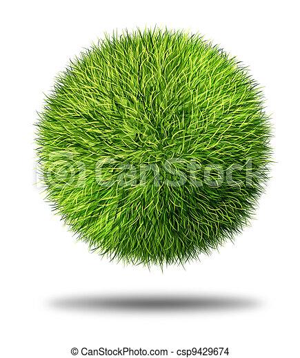 Environmental Conservation Grass Ball - csp9429674