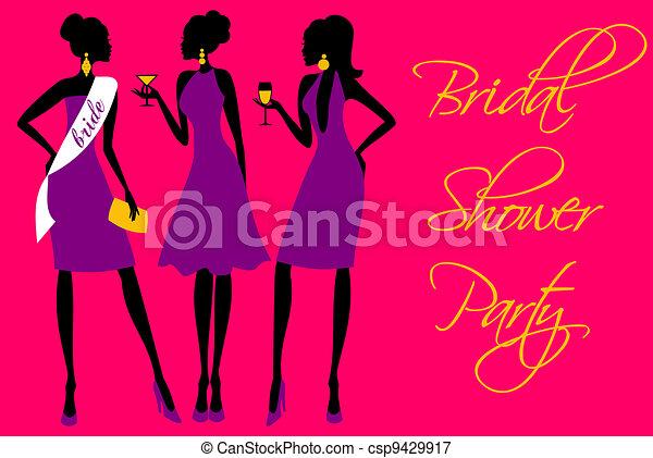 Bridal Shower Invitation - csp9429917