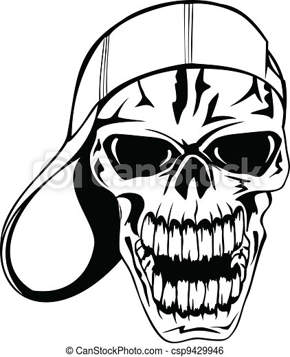 skull in cap - csp9429946
