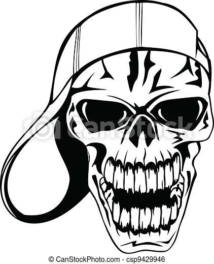 skull in cap - csp9429946