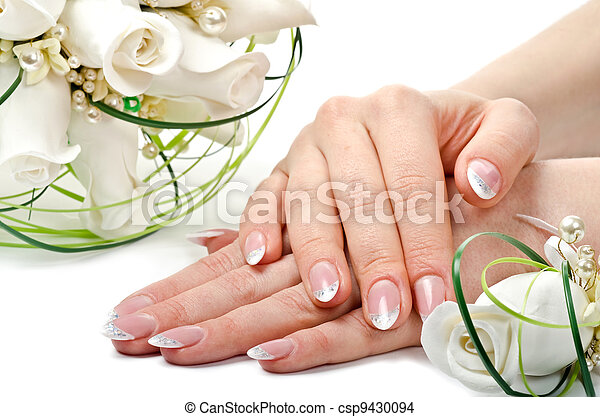 Hands and flowers - csp9430094