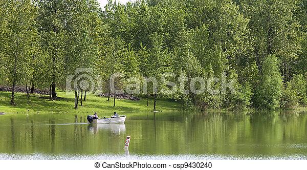 Fishing in the lake, Woodland WA. - csp9430240