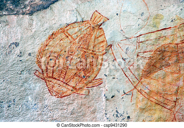 Aboriginal rock art - csp9431290