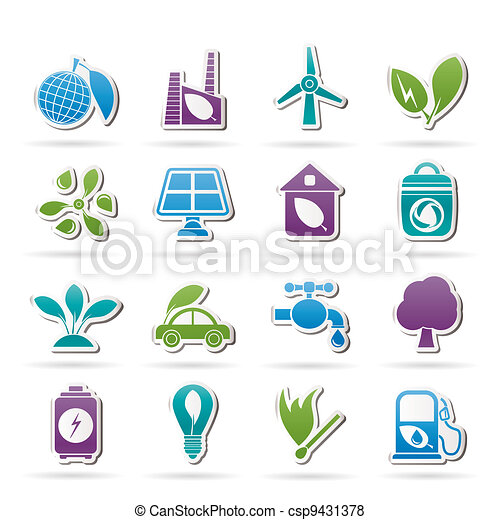 Green, Environment and ecology Icon - csp9431378