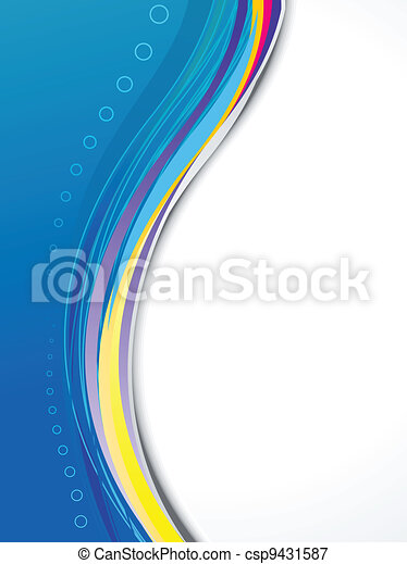 abstract blue based brochure - csp9431587