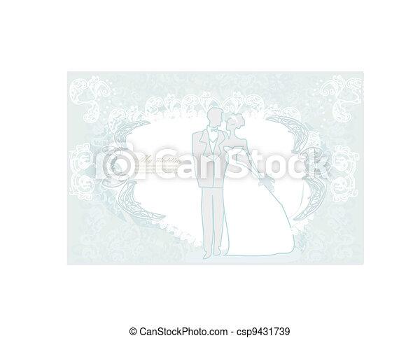 elegant wedding invitation - csp9431739