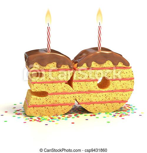 30 shaped birthday cake
